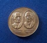 Medalie Medicina - Dr. V. Gomoiu - V. Bologa - Societatea rom. de istoria med.