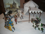 Schleich - 6 cavaleri cu cort de campanie, Unisex