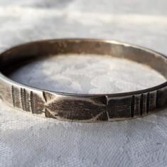 BRATARA argint TRIBALA robusta MASIVA marcaje VECHI vintage RARA de colectie