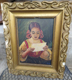 Tablou vechi portret semnat