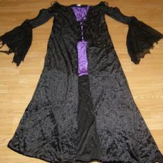 costum carnaval serbare rochie medievala  vrajitoare pentru adulti marime M-L