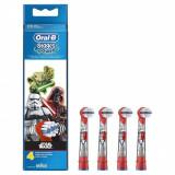 Rezerve pentru periuta de dinti electrica copii Oral-B EB10-4, 4 buc, Editie Star Wars