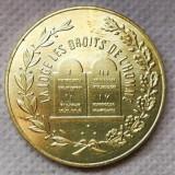 """Medalie masonică """"LOGE LES DROITS DE L'HOMME"""""""