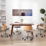 Set tablouri din pânză, vas cu flori, multicolor, 120 x 40 cm, vidaXL