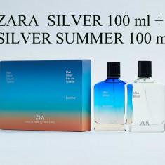 Parfum barbati Zara man silver set 2 x 100 ml nou