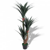 Plantă artificială Yucca cu ghiveci, 155 cm, verde