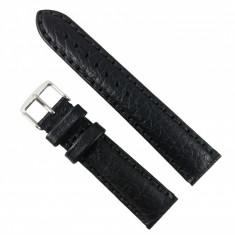 Curea de ceas din piele Neagra - 18mm, 20mm, 22mm - WZ2879