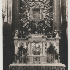 Romania anii 30, CP foto real Manastirea Radna - Altarul, Steimitzer Lipova, Necirculata, Fotografie