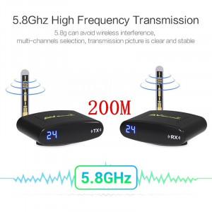 TV Audio Video Transmitter Receiver PAT-635, 5.8GHz Wireless AV Sender