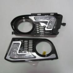 Grile proiectoare cu lumini de zi DRL dedicate BMW Seria 3 E92 M-TECH