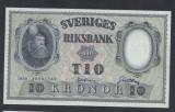 A5151 Sweden Suedia 10 kronor 1958 SEMNATURI DIFERITE aUNC