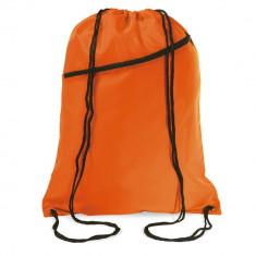 Saculet larg, inchidere cu snur, poliester 190T, poliester, Everestus, 8IA19053, portocaliu, eticheta de bagaj inclusa