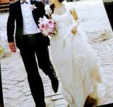 Duo nunta - Costum mire (Cacharel) + rochie mireasa (Andre Salon)