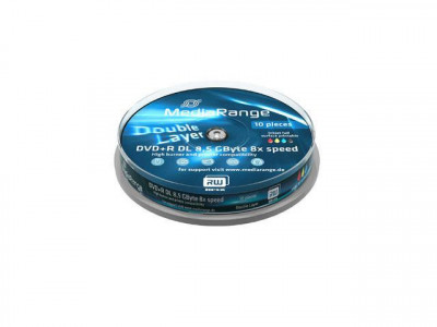 DVD-R MediaRange double layer 8X 8.5GB 10 buc foto