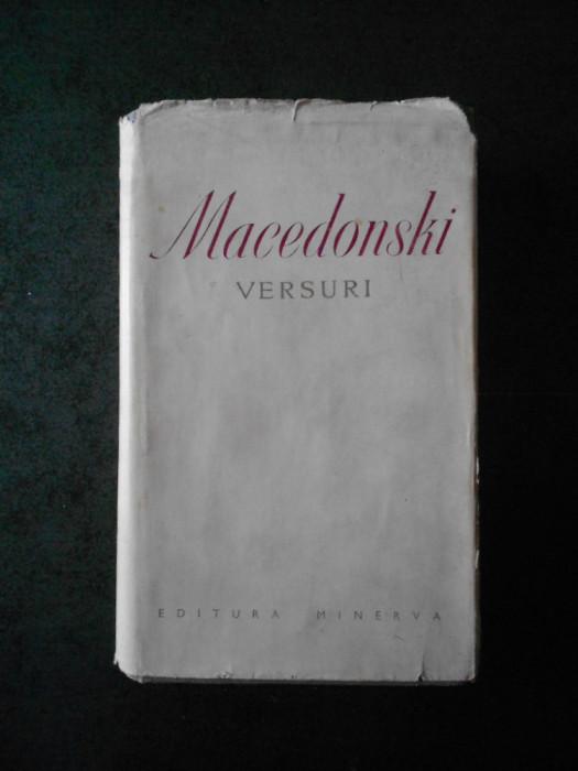 ALEXANDRU MACEDONSKI - VERSURI (1975, editura Minerva, editie bibliofila)