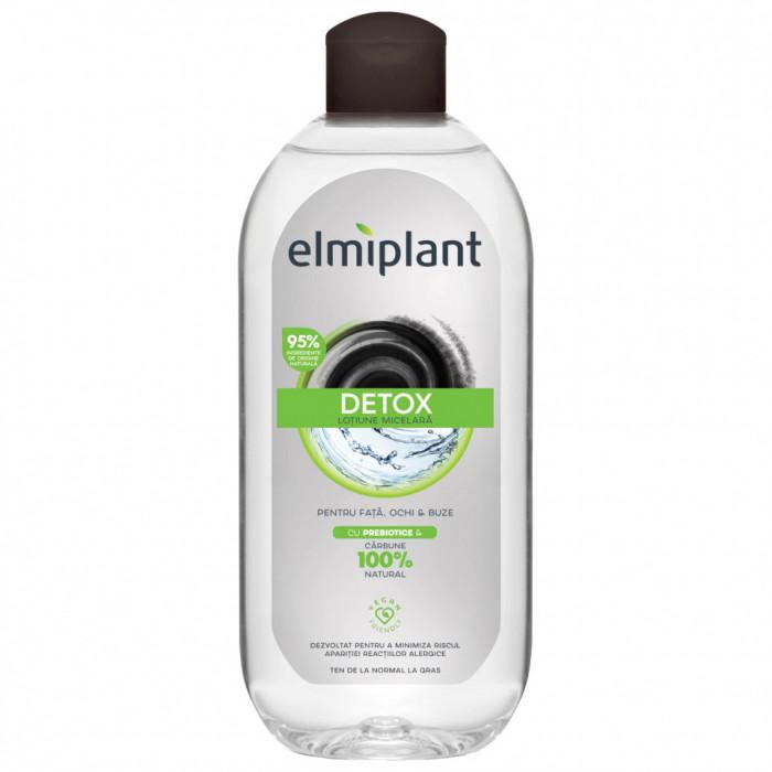 Apa micelara Elmiplant Detox pentru ten normal & gras, 400 ml