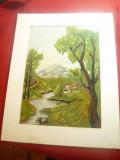 Tablou - Goblen - Peisaj , dim.= 18x25,5 cm cu rama