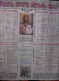 Calendar religios vechi Colectie,Calendar crestin ortodox de perete 1993,T.GRAT