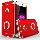 Husa Apple iPhone 8, Elegance Luxury 3in1 Ring Rosu, MyStyle