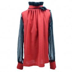 Bluza eleganta maneca lunga fetite Umbo SN-27, Rosu
