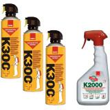 Cumpara ieftin 3 x Sano K300+, insecticid spray universal, 3 x 400ml + Sano K2000, Insecticid