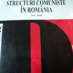 IDEOLOGIE SI STRUCTURI COMUNISTE IN ROMANIA 1917-1918, BUC. 1995