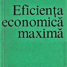 Eficienta economica maxima Aurelian Iancu 1972