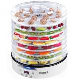 Deshidrator de alimente Concept SO2020, 500W, timer, Interval 37-70�C, tava 33 cm, 2 tavi RAW, 9 tavi, Alb