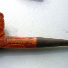 Pipa   lemn   sculptat