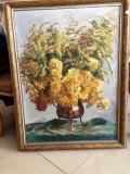NILS FORSBERG 1870-1961 TABLOU MARE PICTURA ULEI PE PANZA, Flori, Impresionism
