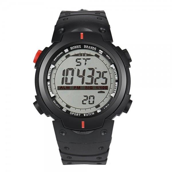 Ceas Barbatesc HONHX CS136, curea silicon, digital watch, functie cronometru, alarma