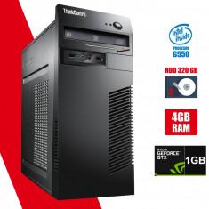 Calculator Lenovo m72 Tower G550 4GB DDR3 HDD 320GB Video nVidia 605 1GB