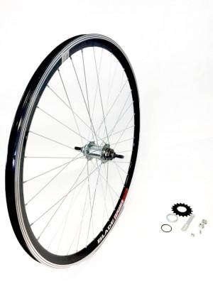 Roata Spate Bicicleta 28x1.50 - 1.75 - Aluminiu - Simpla ( butuc cu frana ) foto