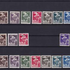 ROMANIA 1929/30  SET  COMPLET  VULTUR  CU  STEAG  3 SERII  COMPLETE MNH