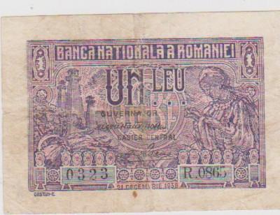 1 LEU 1938 21 DECEMBRIE/UNC foto