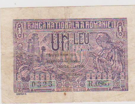 1 LEU 1938 21 DECEMBRIE/UNC