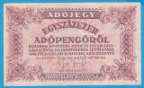 (3) BANCNOTA UNGARIA - 100.000 ADOPENGO 1946 (28 MAI 1946)