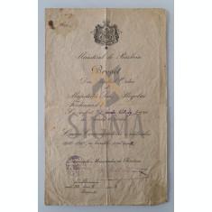 Brevet, Ministerul de Razboi, Crucea Comemorativa Razboiul 1916-1918