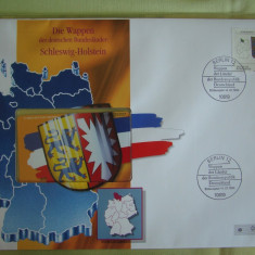 Cartela Telefonica + FDC Germania Schleswig-Holstein - Exponat Numerotat