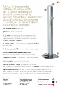 Dozatorul / Dispenserul Urban Sanitizer® de Gel / Lichid Dezinfectant