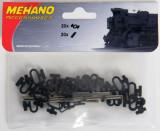 Set clipsuri & conectori sina H0, Mehano F246