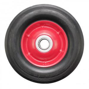Roata carucior - cauciuc brut - rulment - 7x1.5 - MTO-GPA00025