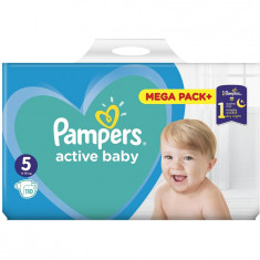 Scutece Pampers Active Baby 5 Mega Box, 110 bucati