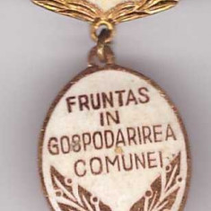 Insigna Fruntas in gospodarirea comunei 1971