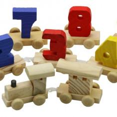 Trenulet cu numere lemn