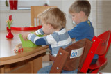 Scaun de masa de lemn copii culoare alb Treppy