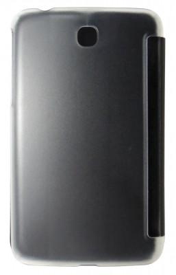 Husa tip carte neagra spate transparent cu stand pentru Samsung Galaxy Tab 3 P3200 (SM-T211) / P3210 (SM-T210) foto