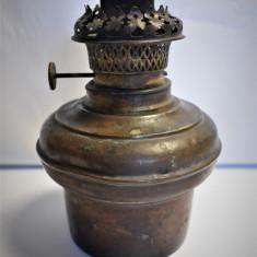 Bazin si mecanism cu fitil pt lampa cu petrol / gaz - alama Ditman Wien Viena