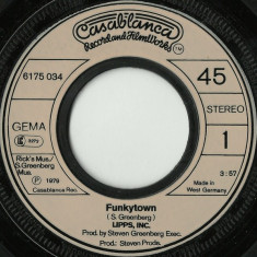 "Lipps Inc. - Funkytown (1979, Casablanca) disc vinil single 7"""