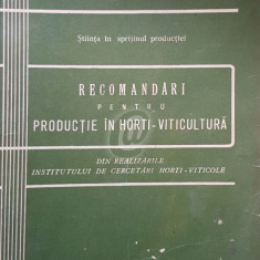 Recomandari pentru productie in horti-viticultura